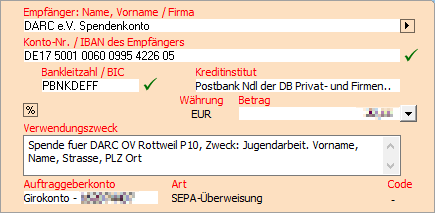 Screenshot Onlinebanking